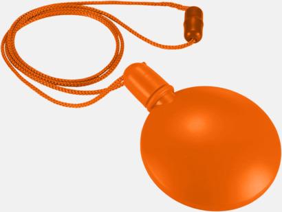 Orange Tom behållare för såpbubblor - med reklamtryck
