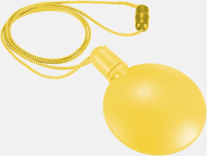 Gul Tom behållare för såpbubblor - med reklamtryck