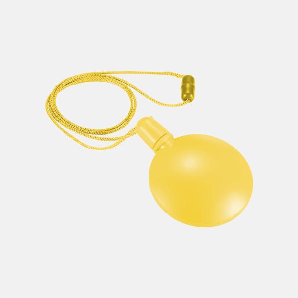 Gul Behållare med såpbubblor - med reklamtryck