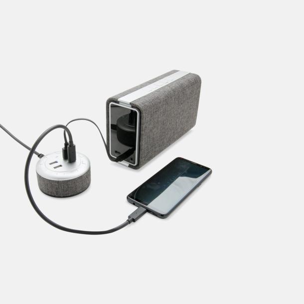 Tygklädda USB-laddare med reklamtryck