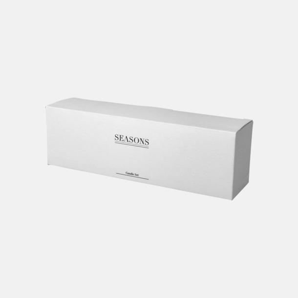 Presentförpackning 4 doftljus i set med reklamtryck