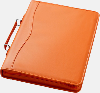 Orange A4 portföljmappar med reklamtryck