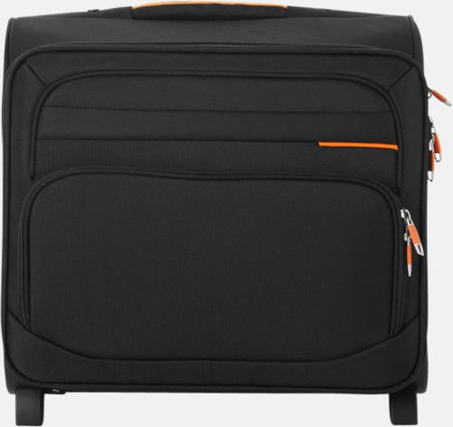 Svart / Orange Kompakta mini dragväskor med reklamtryck