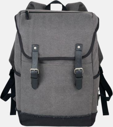 Grå / Svart Urbana laptopryggsäckar med reklamtryck