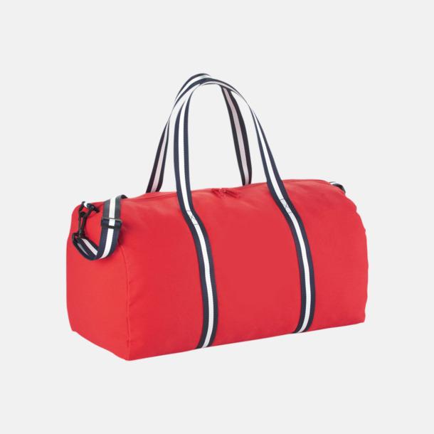 Röd Resväskor i bomull med reklamtryck