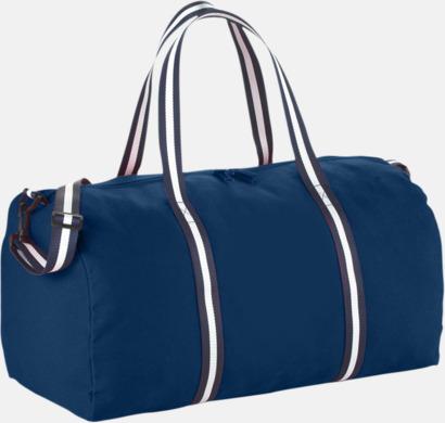 Marinblå Resväskor i bomull med reklamtryck