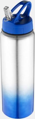 Royal/Silver Nyansskiftande vattenflaskor med reklamtryck
