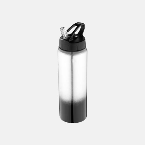 Svart / Silver Nyansskiftande vattenflaskor med reklamtryck