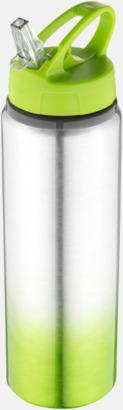 Limegrön / Silver Nyansskiftande vattenflaskor med reklamtryck