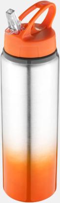 Orange / Silver Nyansskiftande vattenflaskor med reklamtryck