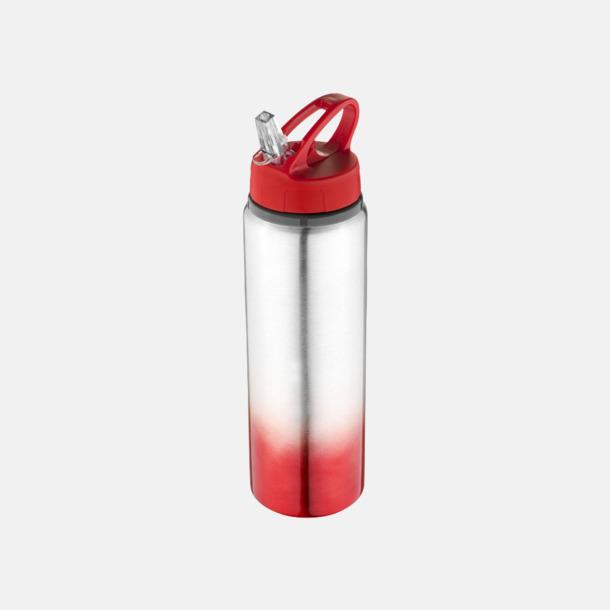 Röd / Silver Nyansskiftande vattenflaskor med reklamtryck