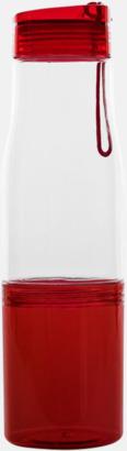 Transparent / Röd Sportflaska med förvaringsutrymme - med reklamtryck
