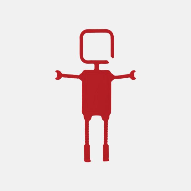 Röd Praktiskt mobilhållare med reklamtryck
