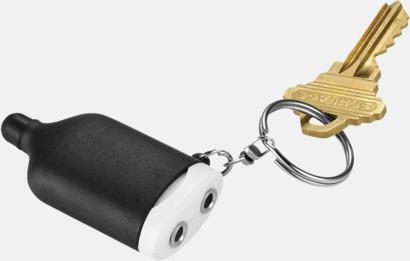 Svart / Vit Audiosplit med nyckelring - med reklamtryck