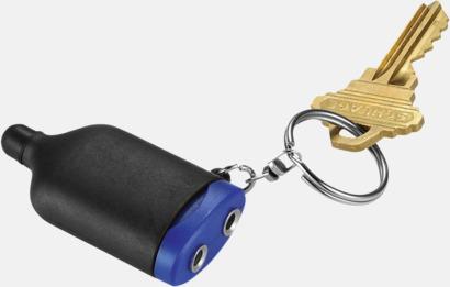 Svart/Royal Audiosplit med nyckelring - med reklamtryck