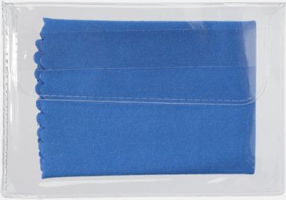 Blå Mikrofiberputsdukar i fodral med reklamtryck
