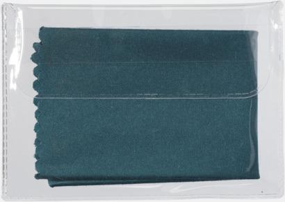 Grön Mikrofiberputsdukar i fodral med reklamtryck