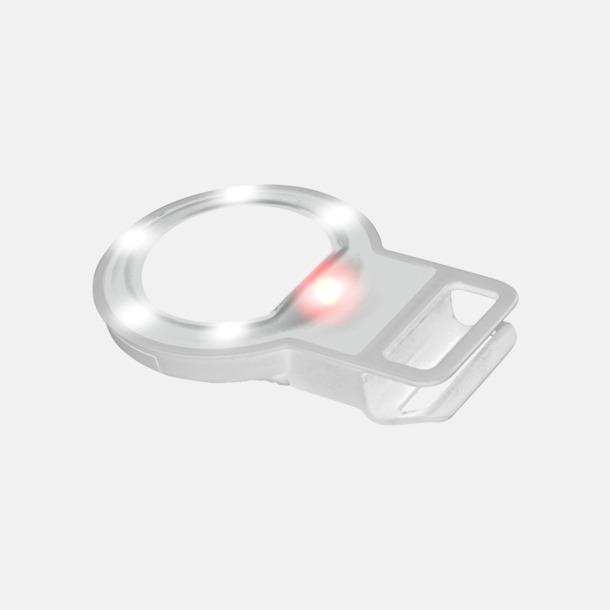 Vit Selfiespegel med LED-lampa med reklamtryck