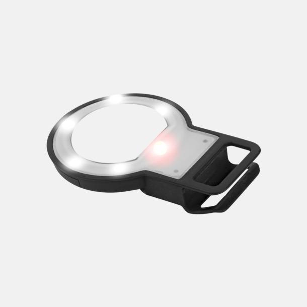 Svart Selfiespegel med LED-lampa med reklamtryck