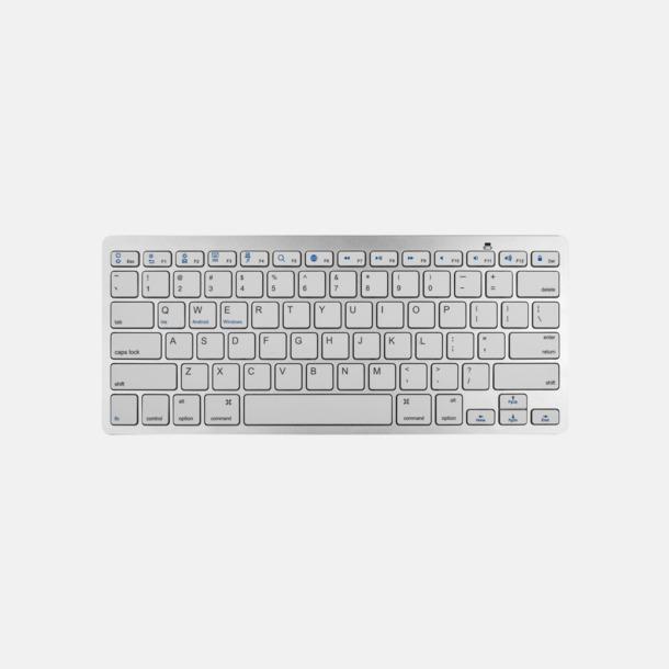 Vit Trådlösa rese tangentbord med reklamtryck