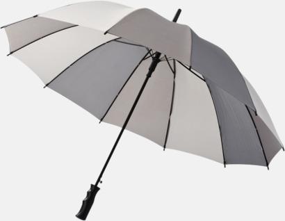 Randiga paraplyer med reklamtryck