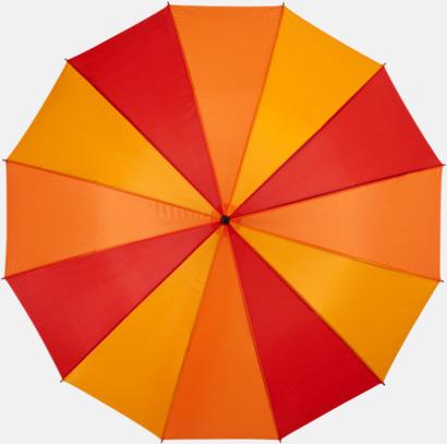 Röd Randiga paraplyer med reklamtryck