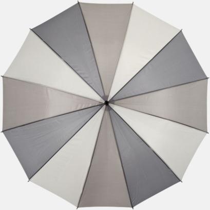 Grå Randiga paraplyer med reklamtryck