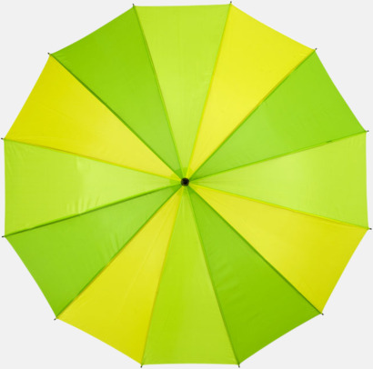 Grön Randiga paraplyer med reklamtryck
