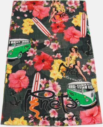 Tryckta handdukar med fickor - med reklamtryck