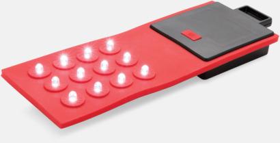 Röd Böjbara lampor med reklamtryck