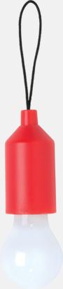 Röd Glödficklampor i nyckelringsformat med reklamtryck