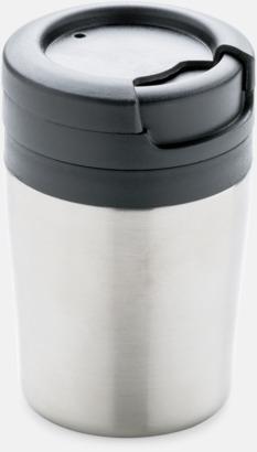 Silver (utan handtag) Små termosmuggar med eller utan handtag - med reklamtryck