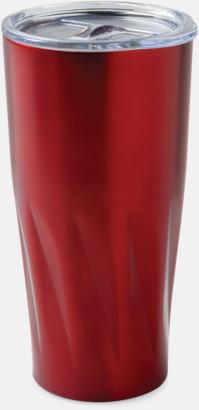Röd Förgyllda termosmuggar med reklamtryck