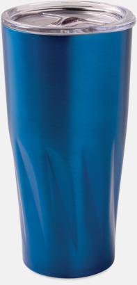 Blå Förgyllda termosmuggar med reklamtryck