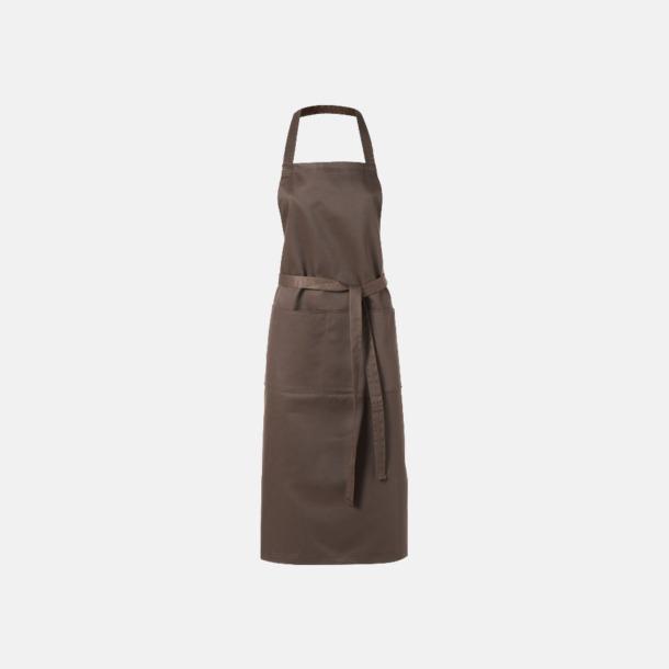 Brun Köksförkläden med reklamtryck