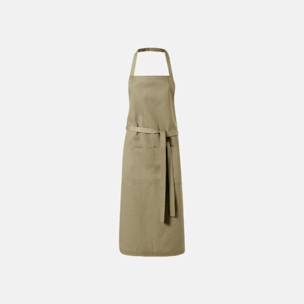 Khaki Köksförkläden med reklamtryck