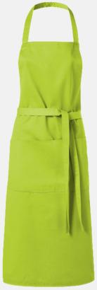 Limegrön Köksförkläden med reklamtryck