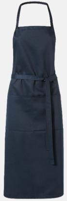 Marinblå Köksförkläden med reklamtryck