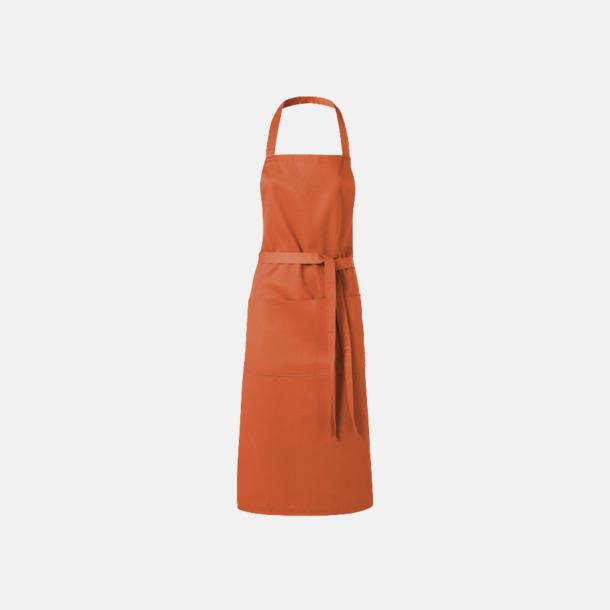 Orange Köksförkläden med reklamtryck