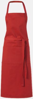 Röd Köksförkläden med reklamtryck