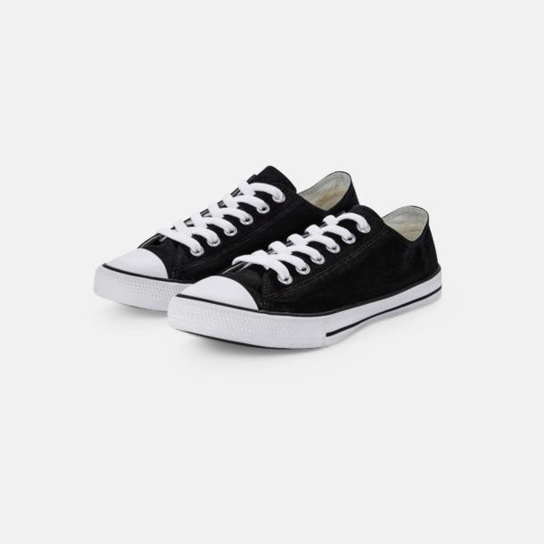 Låga (svart) Sneakers med eget tryck