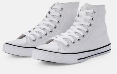 Vit Sneakers med eget tryck