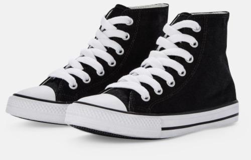 Svart Sneakers med eget tryck