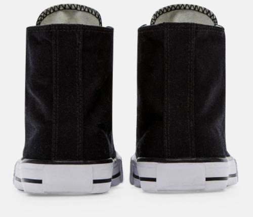 Baksida (svart) Sneakers med eget tryck