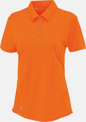 Bright Orange (dam) Adidas teampikéer med reklamtryck
