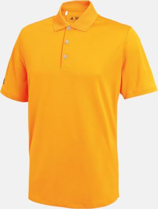 Bright Orange (herr) Adidas teampikéer med reklamtryck