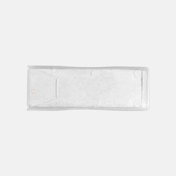Vit / Transparent Plåsteraskar med reklamtryck