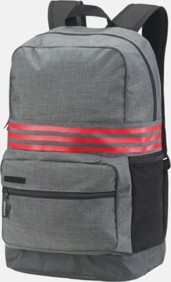 Dark Grey Heather/Scarlet Mediumstora Adidas ryggsäckar med reklamtryck