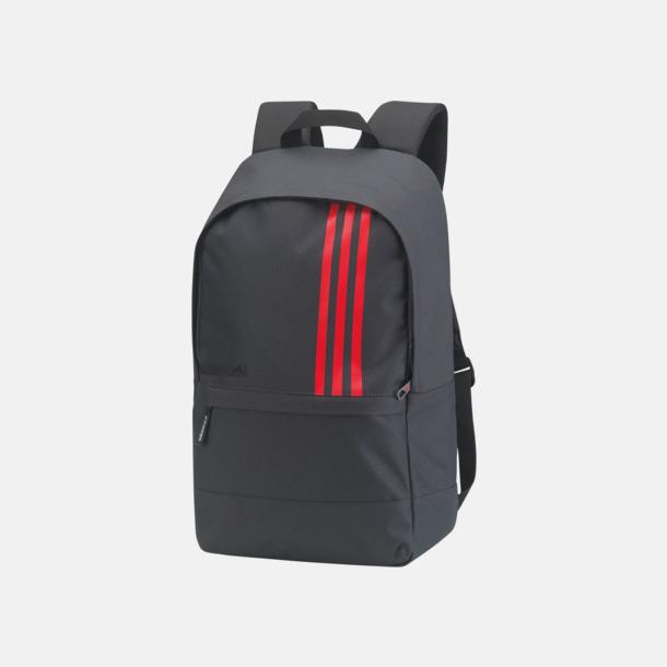 Mörkgrå / Röd Små Adidas ryggsäckar med reklamtryck