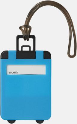 Neonblå Bagagebricka med eget tryck